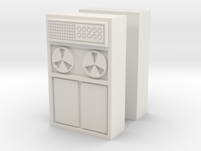 Old Computer Bank (x2) 1/76 in White Natural Versatile Plastic