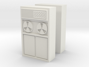 Old Computer Bank (x2) 1/72 in White Natural Versatile Plastic