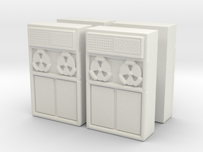 Old Computer Bank (x4) 1/120 in White Natural Versatile Plastic