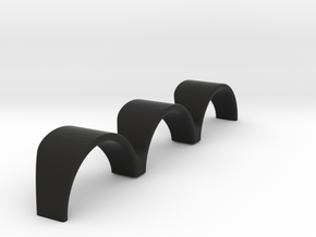 """Top Holder"" for three Auto Meter Sport-Comp Gauge in Black Natural Versatile Plastic"