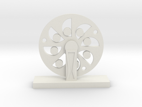 Da Vinci's Wheel in White Strong & Flexible