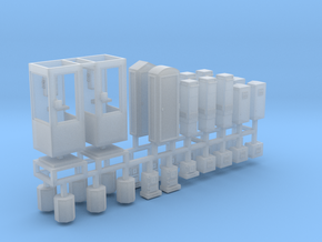 DDR Stadtmöbel Set 6 - 34teilig - 1:120 TT in Smooth Fine Detail Plastic