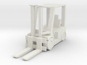 Hyster H60 Forklift USN 1/87 in White Natural Versatile Plastic