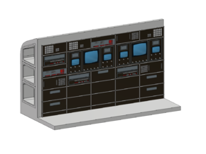 SPACE 2999 EAGLE MPC 1/72 COMPUTER WALL in Smooth Fine Detail Plastic