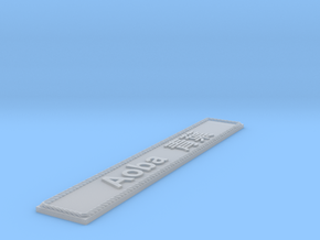 Nameplate Aoba  青葉 in Smoothest Fine Detail Plastic