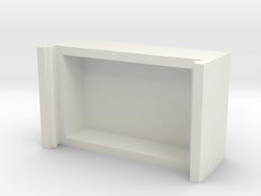 Portable mask extraction storage box in White Natural Versatile Plastic: Medium