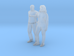 Printle C Couple 1923 - 1/87 - wob in Smooth Fine Detail Plastic