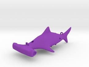 Hammerhead Fishing Lure in Purple Processed Versatile Plastic