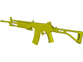 1/12 scale IMI Galil ARM rifle x 1 in Smooth Fine Detail Plastic