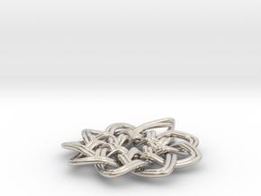 Woven Pendant in Platinum
