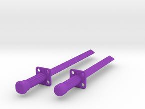 Ninja Sword Set in Purple Processed Versatile Plastic