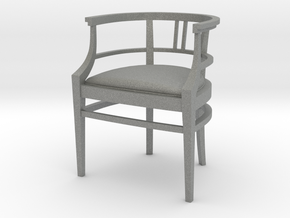 Chair 15. 1:12 Scale  in Gray PA12