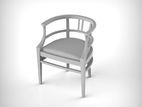 Chair 15. 1:12 Scale  in White Natural Versatile Plastic