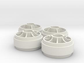 llanta delantera MiniZ rueda Slot et2 in White Natural Versatile Plastic