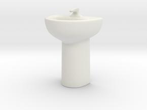 basin 1/43 in White Natural Versatile Plastic