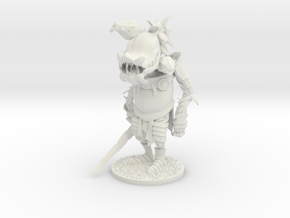 Rose Knight in White Natural Versatile Plastic