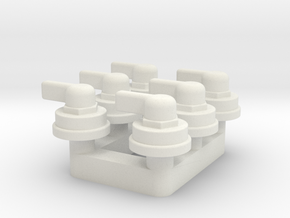 Military Truck Knob - Multiples in White Natural Versatile Plastic