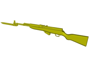 1/12 scale SKS Type 45 rifle & bayo expanded x 1 in Smooth Fine Detail Plastic