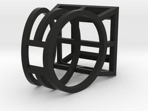 ring06 19 in Black Premium Versatile Plastic