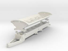 1/64th Construction or Farm Side Dump Trailer in White Natural Versatile Plastic