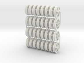 16MN01x32 5 spoke Maenofferen Wheels x32 (SM32) in White Natural Versatile Plastic