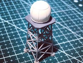 1:400 Ground Radar Radome in Smooth Fine Detail Plastic