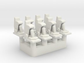 Toggle Switch with Open Cover - Multiples in White Natural Versatile Plastic