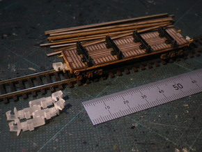 Coupler Unit For N-Gauge Bogies in Smoothest Fine Detail Plastic