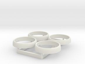 Tamiya Hilux Headlight Lens Bezel - Multiples in White Natural Versatile Plastic