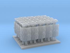 4x4 roman testudo tortoise formation 1/72  in Smooth Fine Detail Plastic