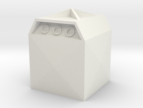 Glass Recycling Container 1/24 in White Natural Versatile Plastic