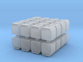 Glass Recycling Container (x32) 1/500 in Smooth Fine Detail Plastic