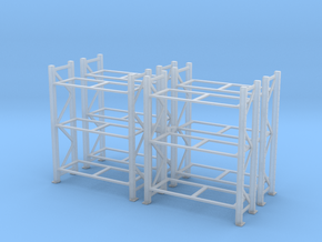 Warehouse Rack (x4) 1/100 in Smooth Fine Detail Plastic