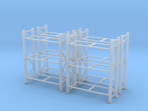 Warehouse Rack (x4) 1/87 in Smooth Fine Detail Plastic