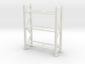 Warehouse Rack 1/72 in White Natural Versatile Plastic
