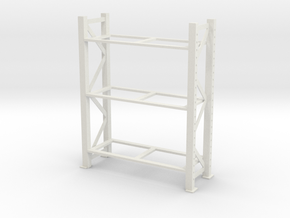 Warehouse Rack 1/24 in White Natural Versatile Plastic