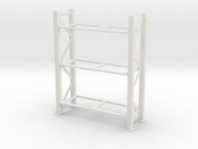 Warehouse Rack 1/24 in White Natural Versatile Plastic