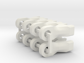 8 x M3 Ends for STRC Yeti / Bomber Trailing Arms in White Natural Versatile Plastic