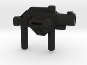 Friar Lovac's Cross Gun  in Black Natural Versatile Plastic