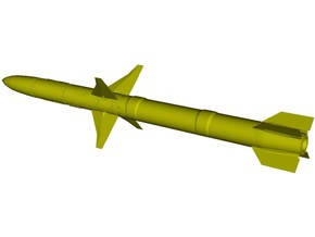 1/18 scale Raytheon AGM-88A HARM missile x 1 in Smooth Fine Detail Plastic