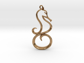 The Seahorse Pendant in Polished Brass