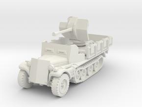 Sdkfz 10/4 B Flak 38 Armoured 1/56 in White Natural Versatile Plastic