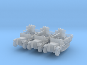 Sdkfz 10/4 B Flak 38 Armoured (x3) 1/220 in Smooth Fine Detail Plastic
