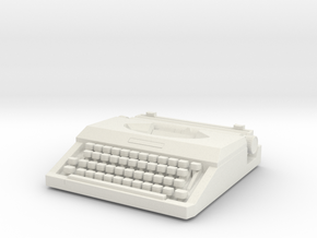 Typewriter 01. 1:12 Scale in White Natural Versatile Plastic