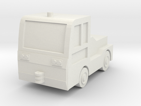 TLD JET-16 Tow Tractor 1/72 in White Natural Versatile Plastic