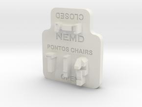 Pontos Deck Chair Tool in White Natural Versatile Plastic