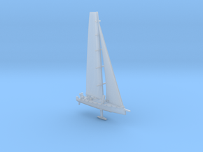 Racing yacht in Smooth Fine Detail Plastic