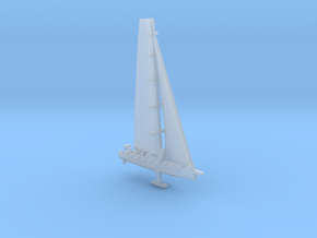 Racing yacht / scale 1/1250 in Smooth Fine Detail Plastic