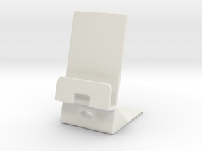 Smartphone Charging Station in White Natural Versatile Plastic