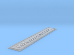 Nameplate USS Michigan SSGN-727 (10 cm) in Smoothest Fine Detail Plastic